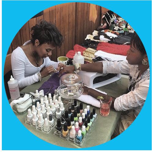 Nail salon treatment