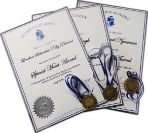 certificates&medals